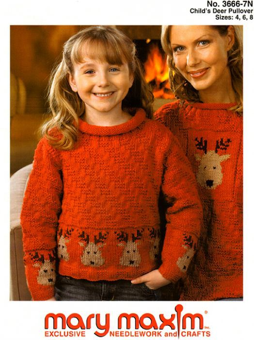 Child\'s Deer Pullover Pattern   Christmas Sweaters   Pinterest