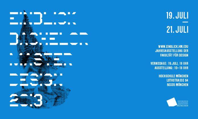 EINBLICK 2013_ Jahresausstellung der Fakultät für Design, Hochschule München | Slanted - Typo Weblog und Magazin