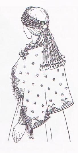 Ancient Selonian dress, circa 9th-12th centuries.