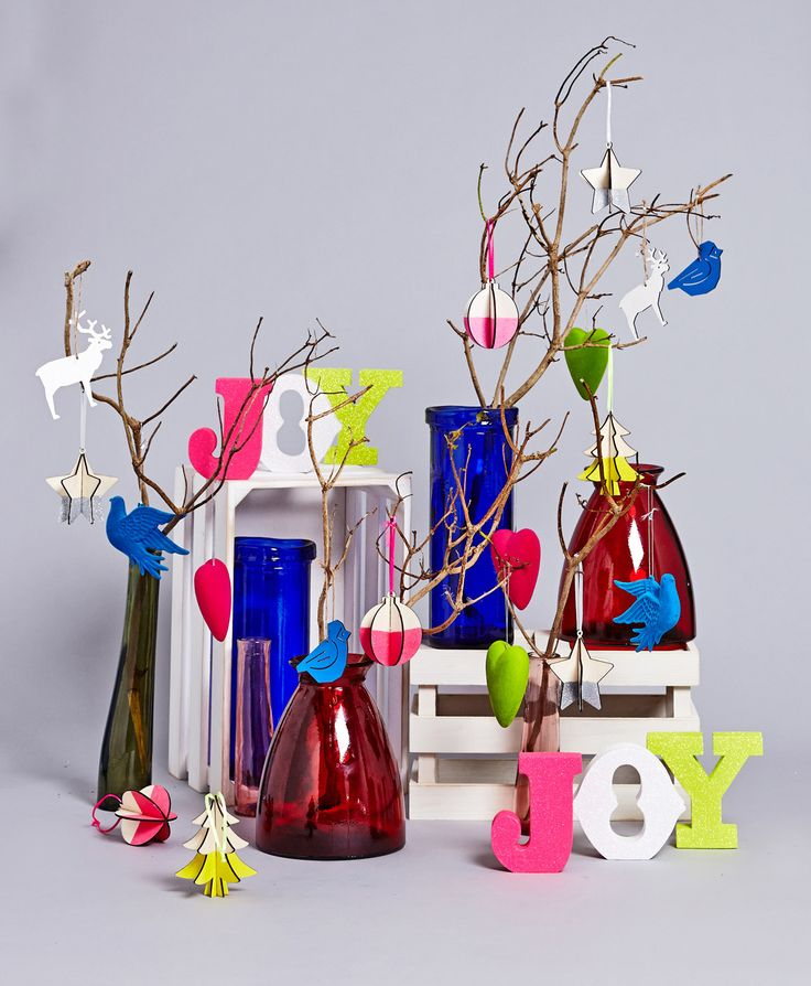 Fluorescent Christmas display by Carolyn Donnelly Eclectic
