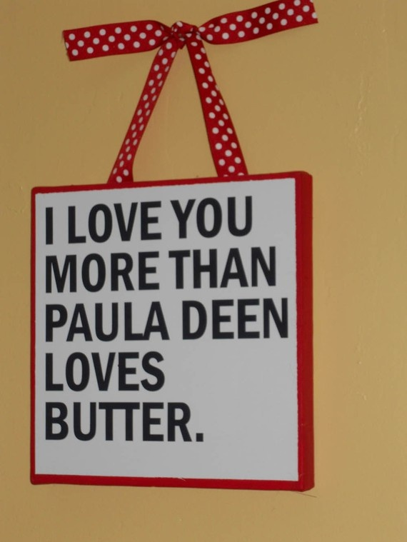 need, it's Paula Deen, butter, red, polka dots, and adorable. Made for me.