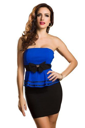 Amour Women's Cut Out Front Peplum Dress