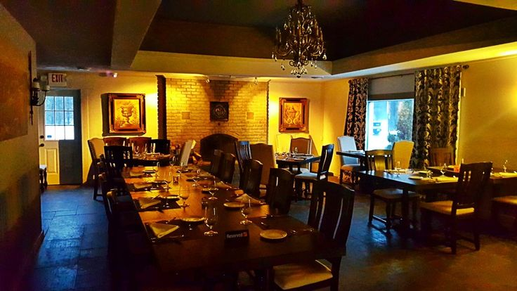 Our beautiful Castle View Fine Dining area.  Come join us for an intimate experience and outstanding meal.