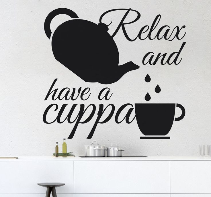 A great text sticker that is perfect for all tea drinkers to decorate their kitchen