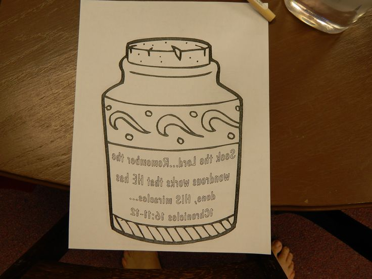 Elijah And The Widow Preschool Craft
