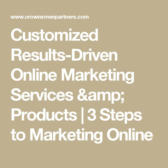Customized Results-Driven Online Marketing Services & Products | 3 Steps to Marketing Online