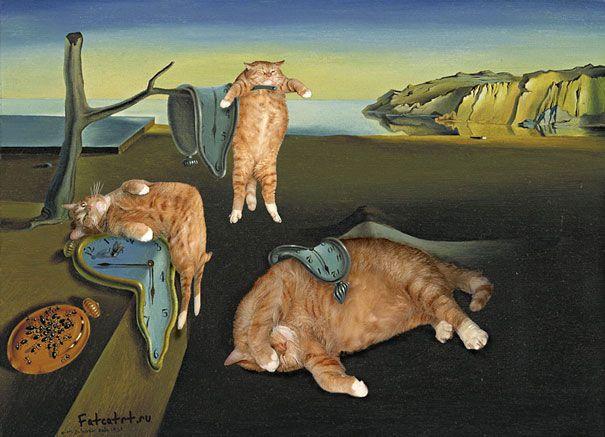 名画にデブ猫を混ぜてもそんなに違和感がない件:ハムスター速報