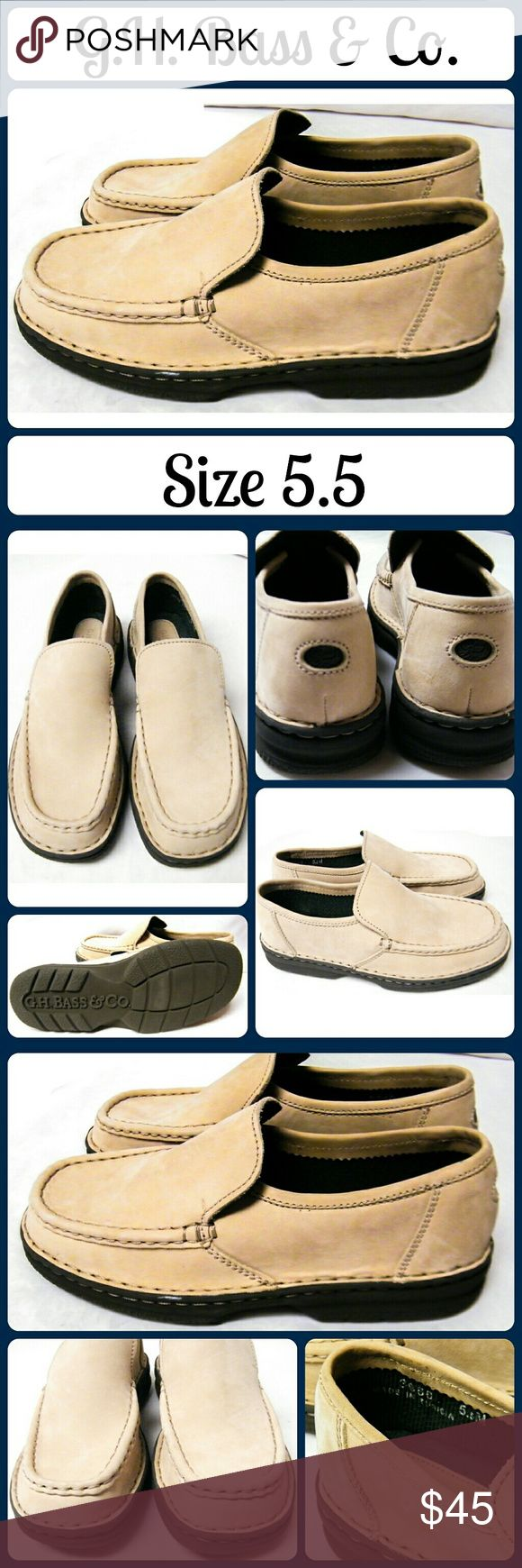 New GH BASS &CO Loafers Slip on Boat/Dock Shoes Never worn! Soft, brushed tan leather. Very sturdy shoes, no stains, tears, or marks.... From a smoke-free, dog friendly home, No trades!! G.H. Bass & Co. Shoes Flats & Loafers