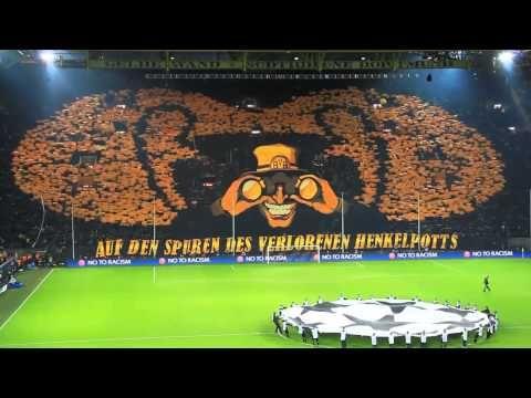 Increible Mosaico Borussia Dortmund vs Málaga Champions League 09-04-2013 Full HD