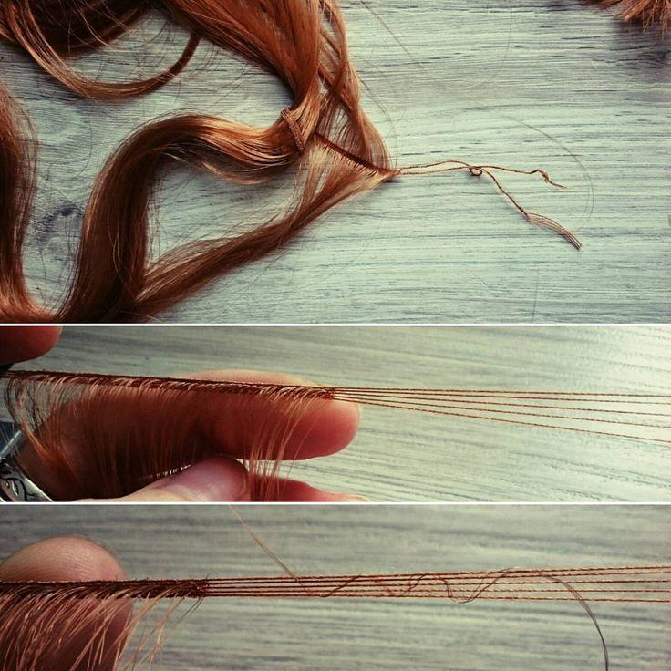 плету трессы ... долго, но оно того стоит)  #трессы #плетениетресс #волосыдлякукол