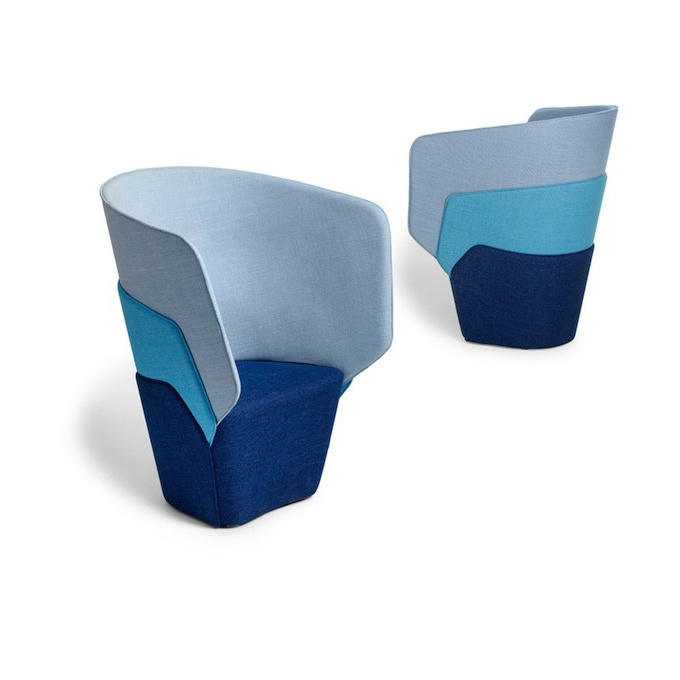 LAYER is an easy chair of Offecct composed of several layers, for any privacy concerns