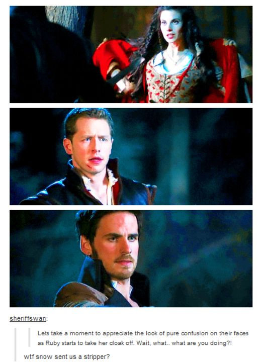 Snow probably should have mentioned Red was a werewolf before she started stripping - Once Upon a Time