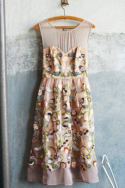 Gilded Avia Dress - anthropologie.com