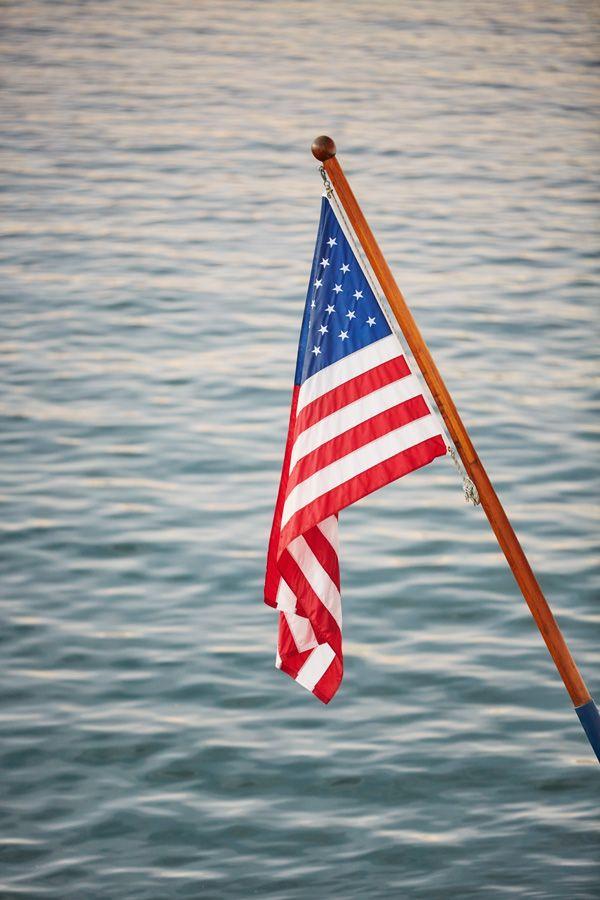 A Flag Hangs From John Wayne S Famous Wild Goose Yacht In Newport Beach