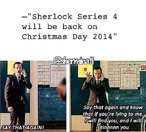 YES! Sherlock producers have been asked by BBC to have the 4th season of Sherlock out by Christmas. The Last Vow brought in more than 13 million viewers.