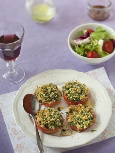 Tomates à la provencale : Recette de Tomates à la provencale - Marmiton
