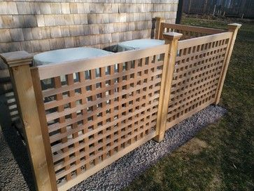 Cedar screen installed - contemporary - fencing - providence - TradeCraft Custom Woodworking and Design