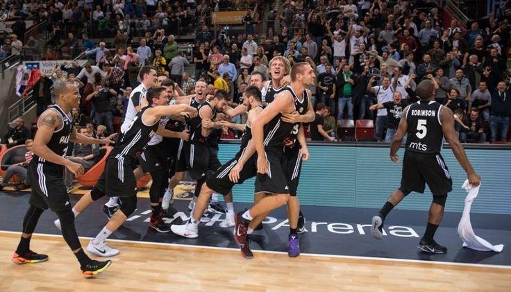Celebration time: Ludwigsburg - KK Partizan 64:65 (Champions League, round 1, 19-10-2016)