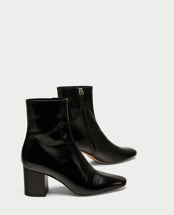Tendance Chaussures 2017  Image 1 de BOTTINES À TALON EN CUIR de Zara