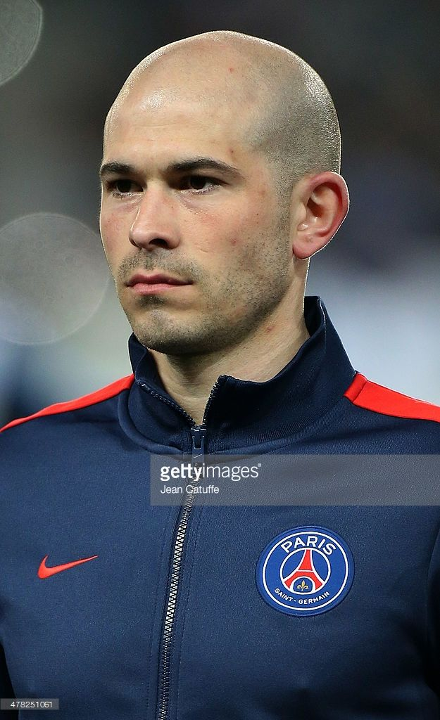 Christophe Jallet of PSG poses prior to the UEFA Champions League Round of 16 match between Paris Saint-Germain FC and Bayer Leverkusen on March 12, 2014 in Paris, France.