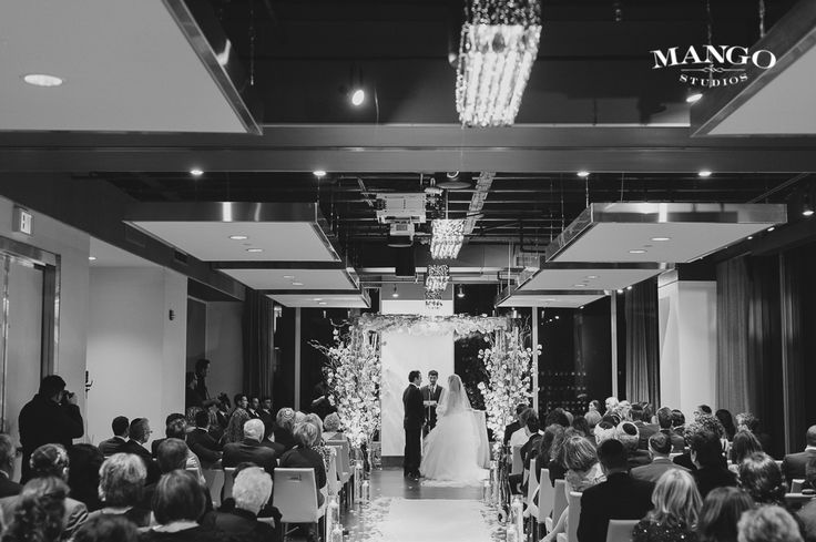 Beautiful chuppah at Arcadian Loft in Toronto. #chuppah #toronto #wedding #blackandwhite