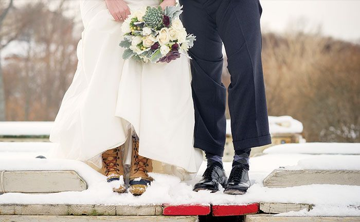 Christina warded off snow and slush last winter in a pair of 30-year-old L.L. Bean boots belonging to her late mother. {Photo by Kate McElwee Photography}