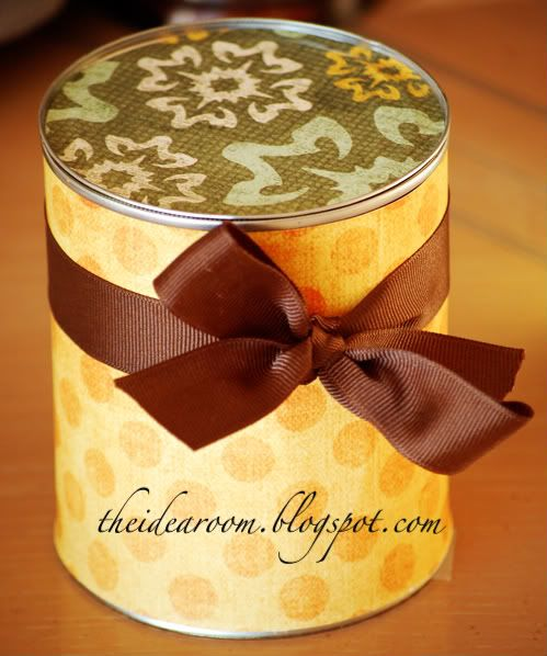 Unique way to package a gift--Gift Cans via Amy Huntley (The Idea Room)