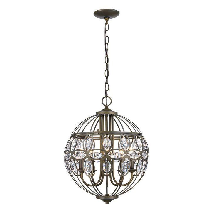 Bel Air Lighting Adeline 5-Light Antique Brass Chandelier