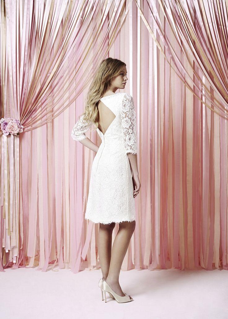 robe de mari e courte dos ouvert robe charlotte balbier collection 2014 robes de mari e. Black Bedroom Furniture Sets. Home Design Ideas