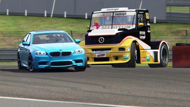 Battle BMW M5 F10 vs Mercedes-Benz L Series Formula Truck at Nurburgring...