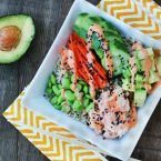 Spicy tuna sushi bowls: A cheap, easy way to get your sushi fix. Click through for recipe!