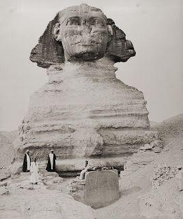 "Sphinx (""Sphynx Armachis"") and Dream Stela. ca 1880 (Egypt) Photographer: Zangaki"