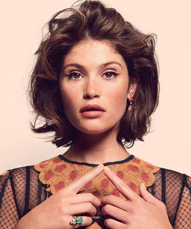 Gemma Arterton//Female, olive skin, freckles, brown eyes, brown hair, adult