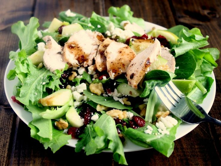Apple Cranberry Feta Walnut Chicken Salad