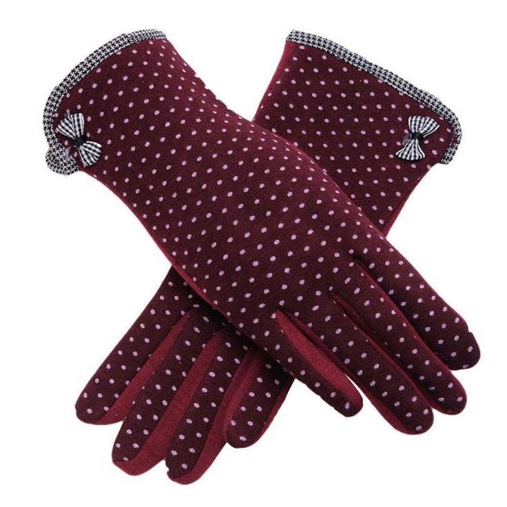 New Winter Gloves Polka Dots