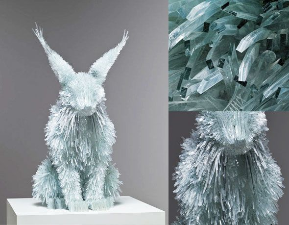 Sculptures by Marta Klonowska  animals made of glass