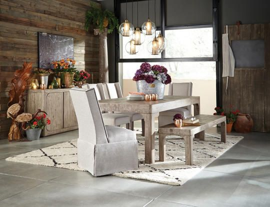 The Beautiful, Contemporary And Urban Derevo Dining Collection Features Bold  Radius Designs In A Unique · Solid Wood Dining TableParsons ChairsArt ...
