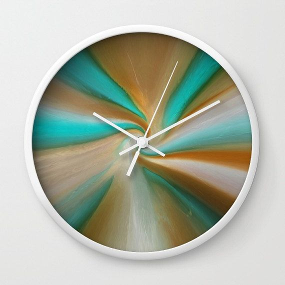 Wall clock, blue and brown clock, blue wall clock, brown wall clock, home decor, art wall clock, Saribelle art, abstract wall clock  Wall clock created with my original art.   **All artwork in this gallery is the original artwork of Saribelle Rodriguez (Colon Rosario). All Rights Reserved. It is for sale, copyrighted to Saribelle Rodriguez (Colon Rosario) and, as such, is protected by US and International Copyright laws. Do not steal this art by downloading to a computer, printing, copying…