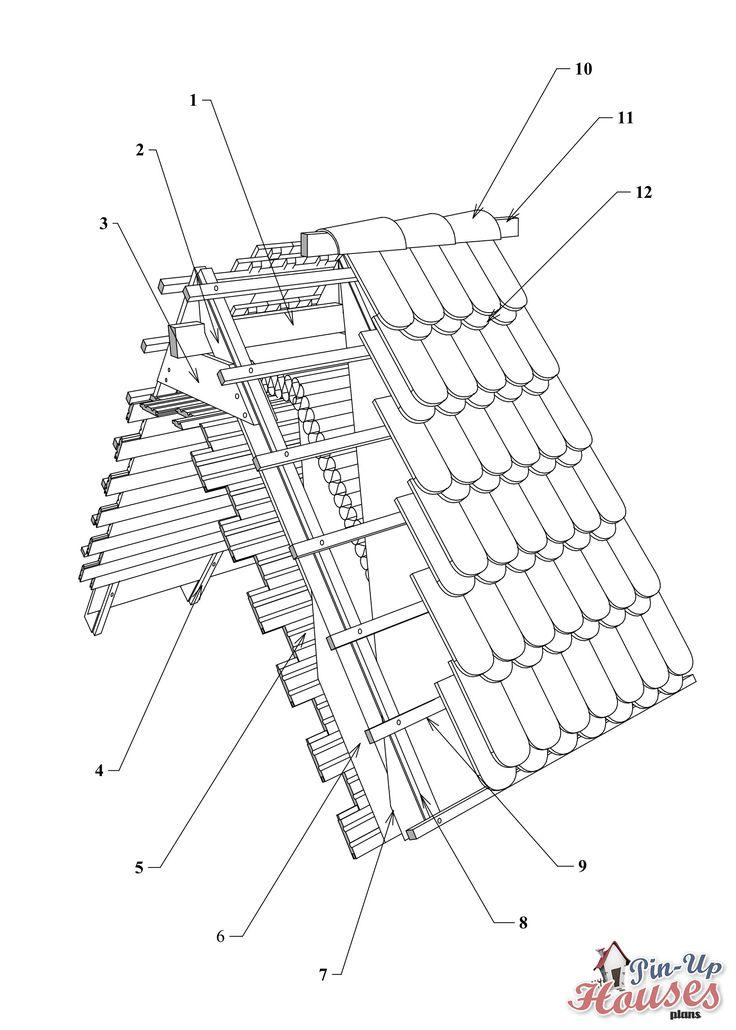 Roof truss elements, DIY tiny houses