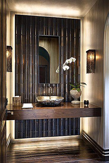 High wow factor for 1/2 bath, Residential   Malgosia Design