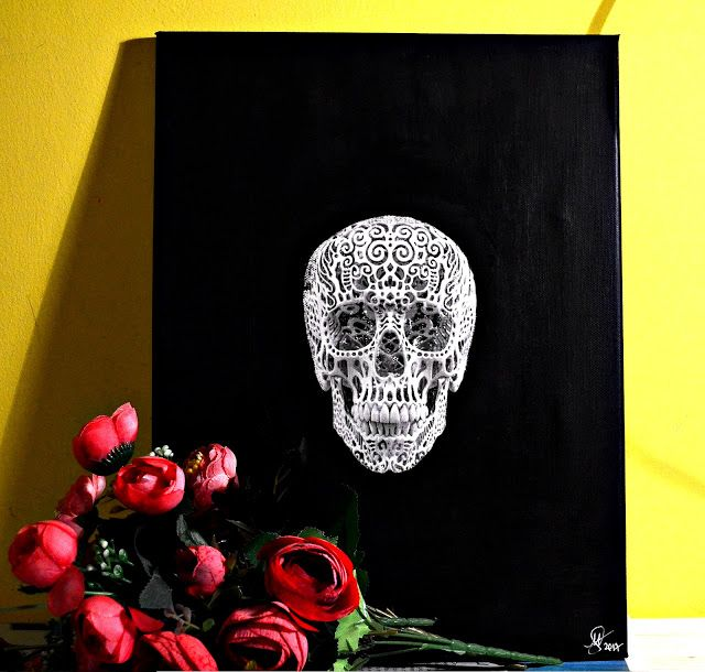 Skull canvas - the perfect Valentine's Day gift for skull lovers. 40X30 cm