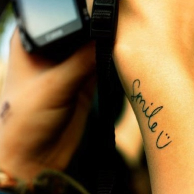 69 best tattoos and more images on pinterest nice for Smile more tattoo