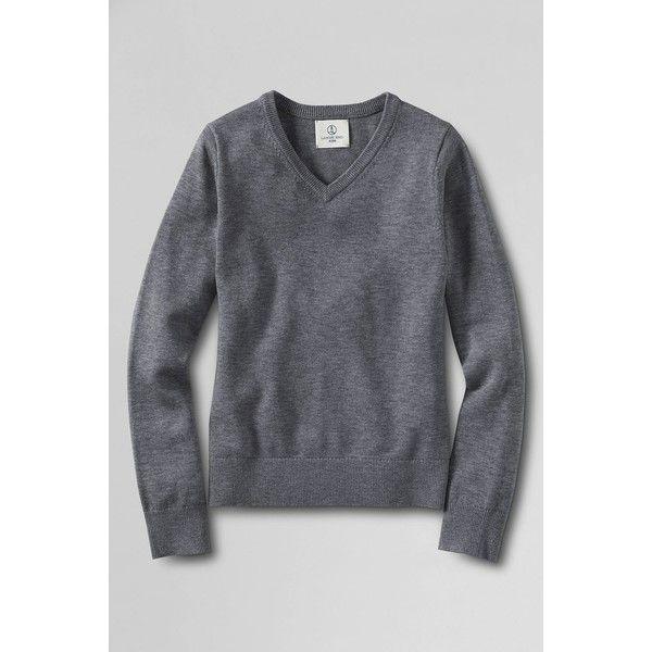 Lands' End Men's Performance Fine Gauge V-neck Sweater (165 BRL) ❤ liked on Polyvore featuring men's fashion, men's clothing, men's sweaters, pewter heather, mens sweaters, mens v neck sweater, mens long sweater, mens cardigan sweater and mens long sleeve v neck sweater