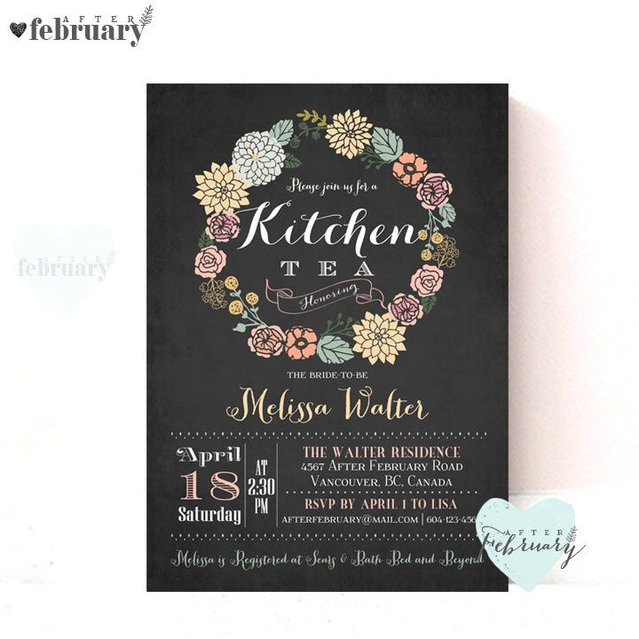 Kitchen Tea Background: 25+ Best Ideas About Kitchen Tea Invitations On Pinterest