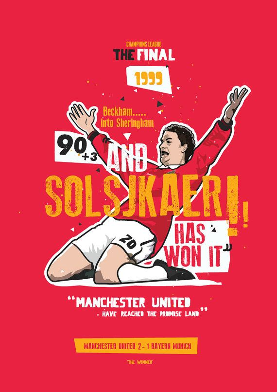 Ole Gunnar Solskjaer 1999 The Winner by KieranCarrollDesign
