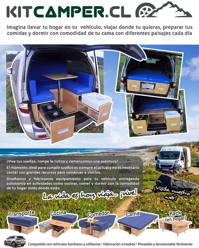 Kit Camper Chile Kitcamperchile Fotos Y Vídeos De Instagram Van Camping Mercedes Vito Camper Mini Camper