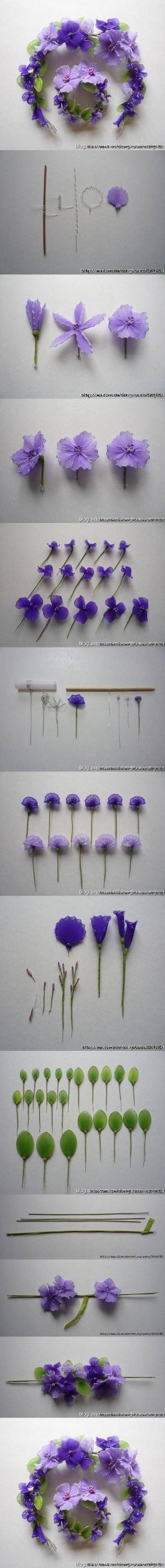 DIY Wire Nylon Flowers DIY Wire Nylon Flowers by alhely