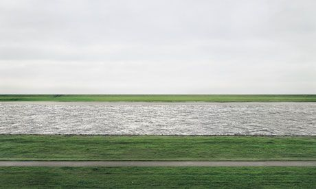 The World's Most Expensive Photo: Rhine II by Andrew Gursky, sold for 4.3 million dollars in 2011.