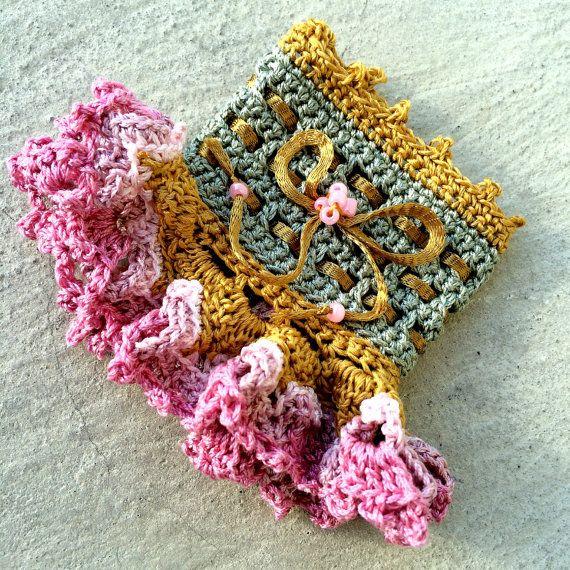 Bracelet Cuff Crochet Bracelet Crochet by BohoHippieGipsyIndie