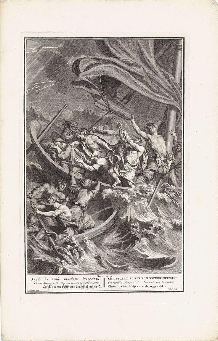 Storm op het Meer van Galilea, Matthijs Pool, 1705 - 1720